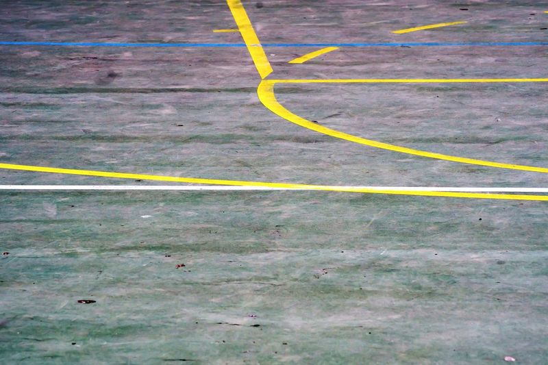 Wallpaper Background Yellow No People Single Line Day Outdoors Basketball Field Court Courtyard  Outside Vintage Old Sport Competition Basket Basketball Game Detail Details Close-up