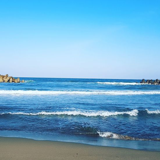 Ishikawa, Japan Nomi City Japan Kanazawa,japan Beach Wave Sea Clear Sky Beach Blue Sand Summer Beauty Sunny Seascape Coastline Ocean