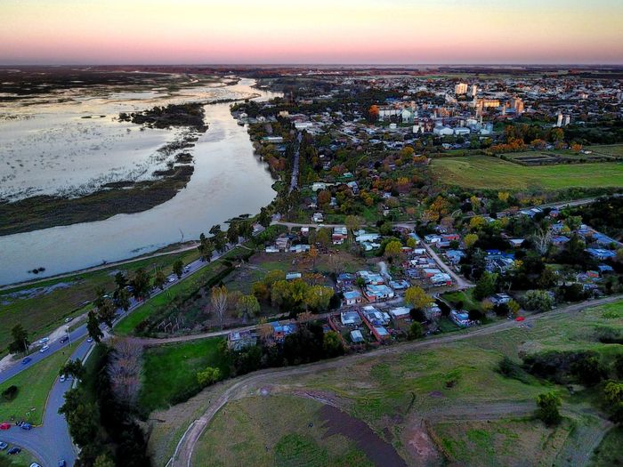 Landscape Sunset Outdoors No People Aerial View Beauty In Nature Scenics Tranquility City Sky Water Nature Cityscape Horizon Over Water Day Building Exterior Grass Drone  Buenos Aires, Argentina  DJI Mavic Pro