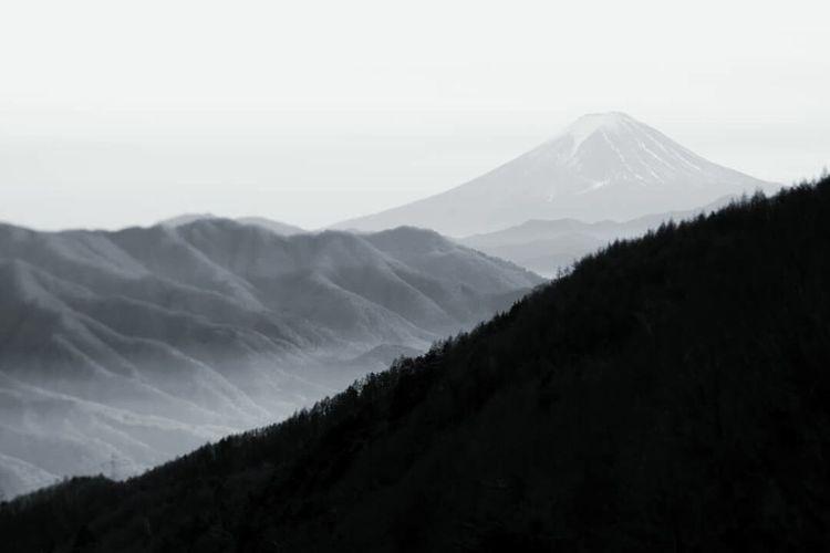 Mt. Fuji Mountain Monochrome Photography Japan