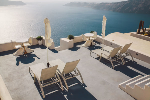 The Essence Of Summer Arrangement Chair Composition Beautifully Organized Empty Human Settlement In A Row Island Large Group Of Objects Perspective Relaxation Santorini Santorini, Greece Sea Seaside Seat Sitting Summer Sunlight Table Vacation Vacations View View From Above Sommergefühle Summer Exploratorium Modern Hospitality