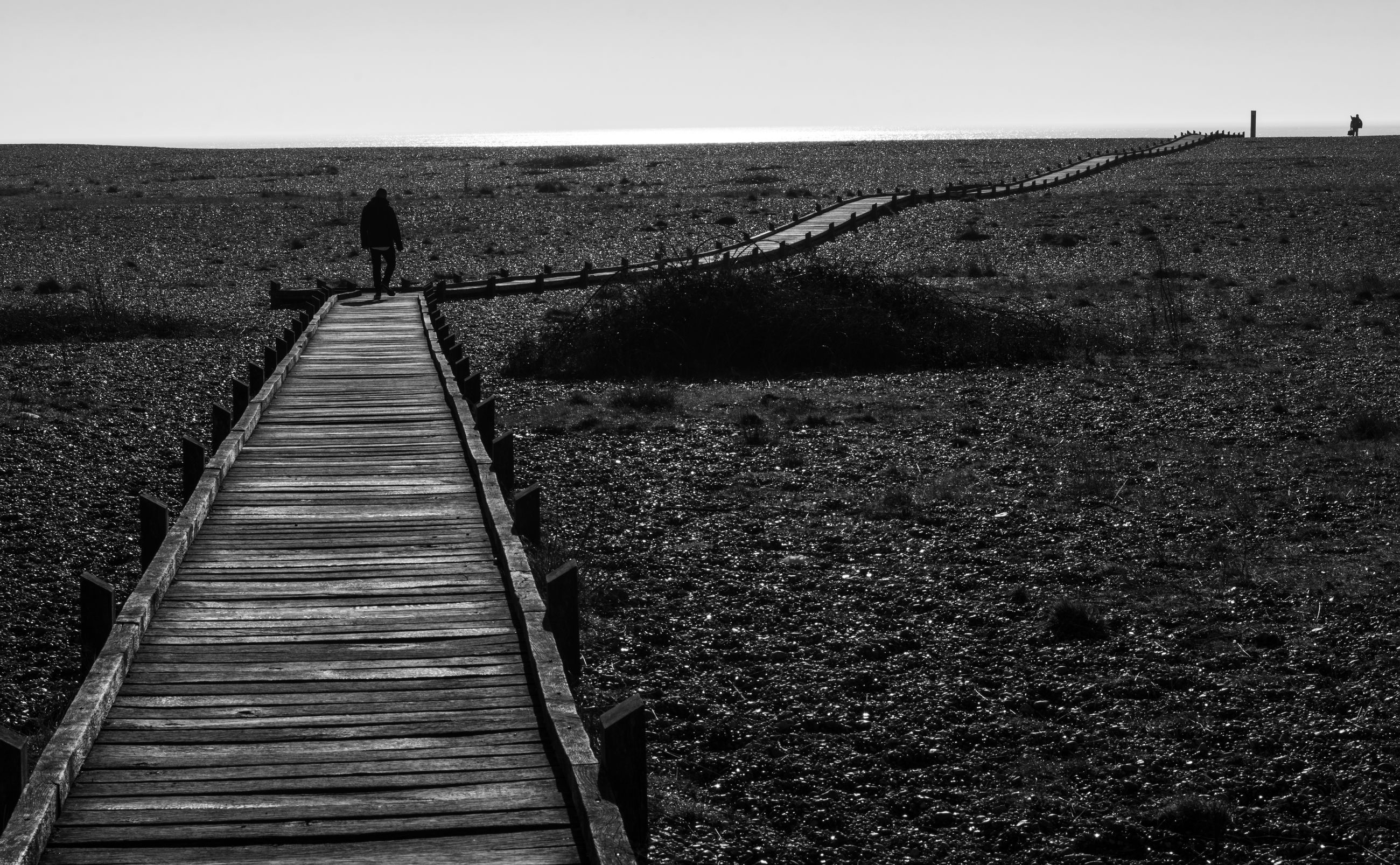 one person, land, walking, sky, nature, real people, tranquility, the way forward, field, lifestyles, tranquil scene, full length, day, landscape, direction, men, rear view, scenics - nature, leisure activity, standing, outdoors