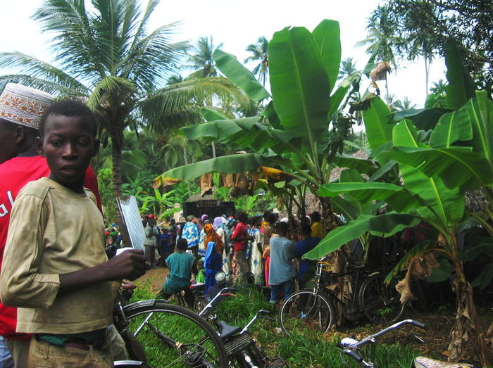2006 Boy Bycicles Crowd Day Feast In The Jungle Men Multicolored Nature Outdoors Palms Real People Women Zanzibar