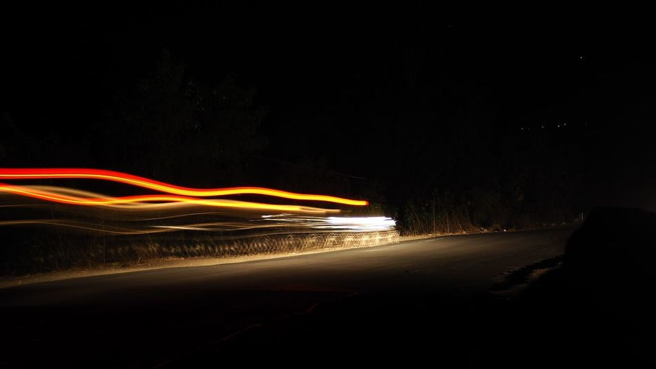 Light Trail Long Exposure Night Motion Speed Road Illuminated Traffic No People Outdoors Bandwidth Wire Wool