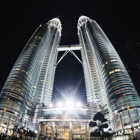 My view tonight Check This Out Hello World KLCC Twin Towers Kuala Lumpur Kuala Lumpur Malaysia  Malaysia Truly Asia Petronas Twin Towers Petronas Nightphotography Gopro