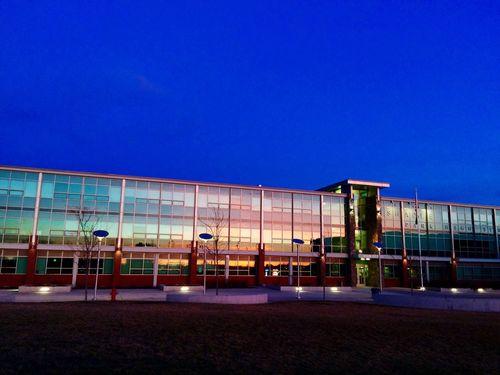 Colour Of Life Shadleparkhighschool Shadlepark Shadle Highschool Sunset Glasswindows Reflection