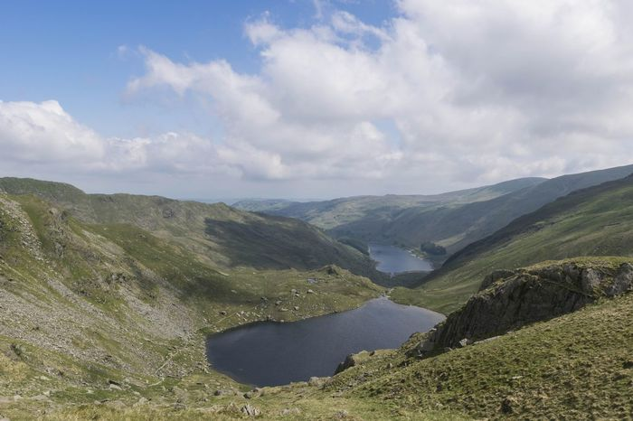 "view from the ""high street"" looking over small water towards haweswater Eye4photography  EyeEm Gallery EyeEmBestPics Lake District Lake View Landscape Landscape_Collection Mountain View Mountains And Sky Tree Rural Scene Agriculture Sky"