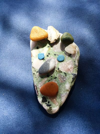 Stone Blue Creativity Stone Beach Summer Summer Game Still Life Indoors  Sweet High Angle View
