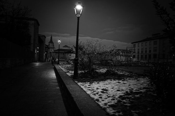 Light in the darkness Vitoria / Gasteiz Euskadi Blackandwhite Hello World Popular Popular Photos Photography EyeEm Best Shots Illuminated Lighting Equipment Night Street Light Outdoors Architecture Building Exterior