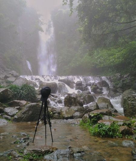 Bought a tripod and tested it at a waterfall. Hope it can improve my game 😂 Nature Outdoors Beauty In Nature Water Power In Nature Photography Landscape Landscape Photographer Tripod At Its Finest Tripod Photographer In Action In The Making Tropical Forest Rain Forest Rain Forest Waterfall Rocky River Rocky Waterfall Rocks