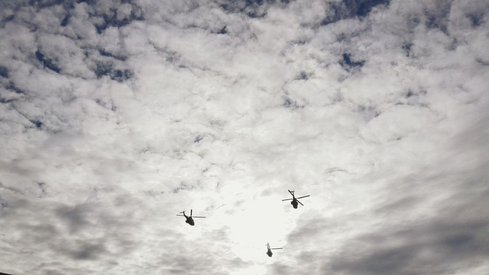 Showcase: December Sky And Clouds Militaryaviation Helicopters Taking Photos Parade Bucharest Romania Flyinghigh