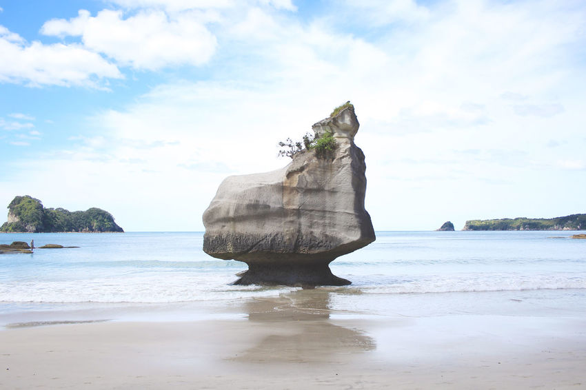 New Zealand Coromandel Cathedral Cove Rock at the beach Beach Beach Life Beachphotography Beauty In Nature Cathedral Cove Day Landscape Nature New Zealand New Zealand Beauty New Zealand Scenery No People Outdoors Rocks Rocks And Water Scenics Sea