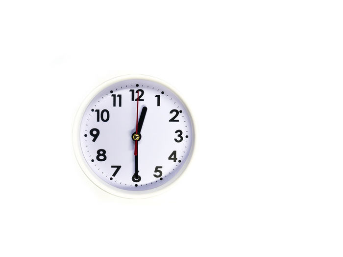 Alarm Clock Clock Clock Face Copy Space Deadline Hour Hand Midnight Minute Hand Night No People Old-fashioned Studio Shot Time Urgency White Background