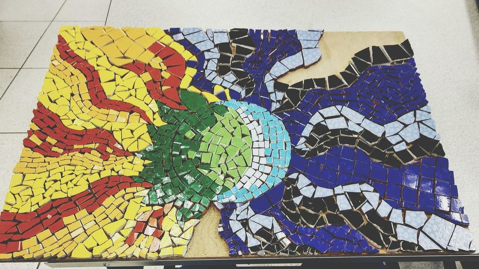Almost done Mosaico Artístico Mosaico Arts And Crafts Sun And Moon Togheter ArtWork