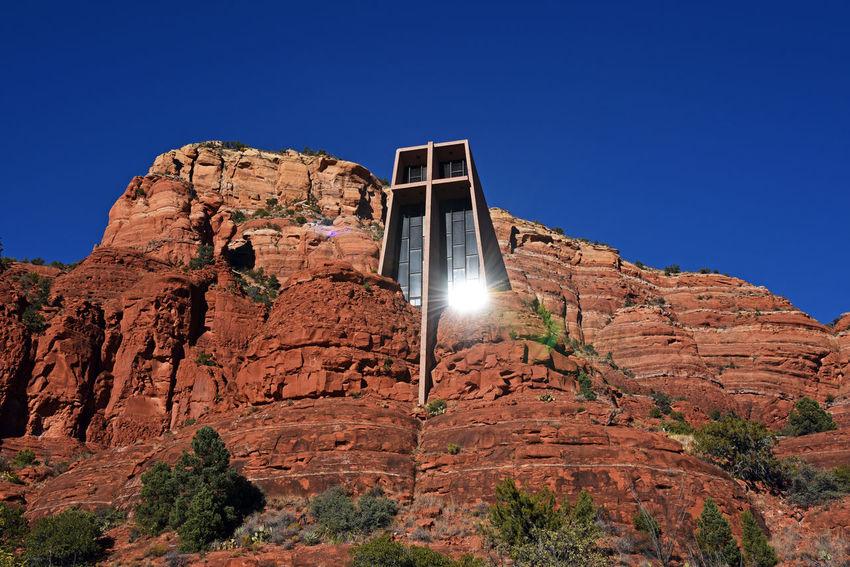 Chapel of the Holy Cross Church Arizona Church Sedona Red Rocks  Sunflare