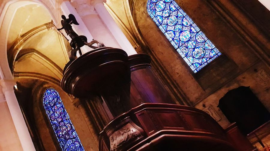 Place Of Worship Religion Window Arch Architecture Close-up Built Structure Stained Glass Architecture And Art Architectural Column Rose Window Historic Architectural Design Church Jesus Christ Interior Cathedral Catholicism Colonnade