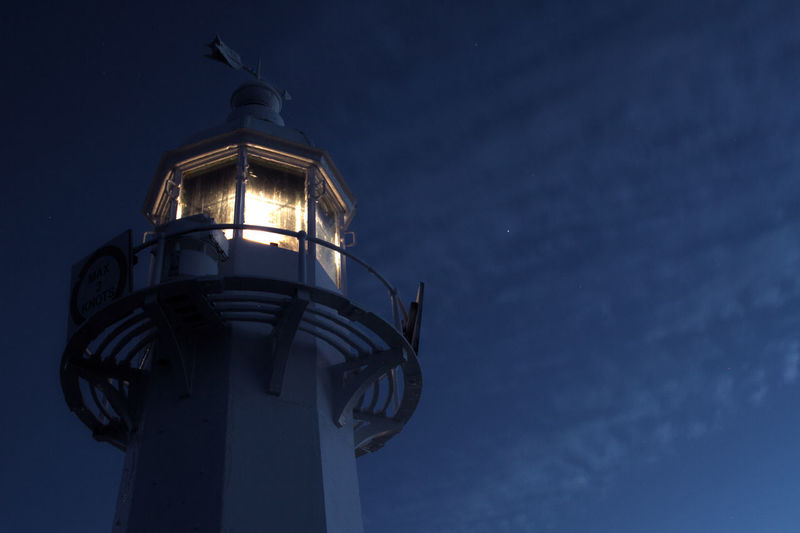 Low Angle View Night Sky Architecture Illuminated Lighthouse Lighthouse_captures Mevagissey Mevagissey Harbour HUAWEI Photo Award: After Dark