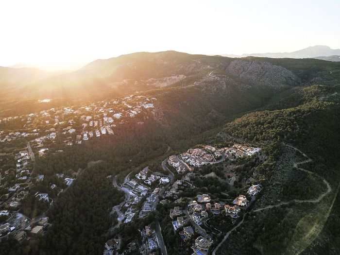 Drone  Mallorca SPAIN Architecture Beauty In Nature Day High Angle View Landscape Mountain Nature No People Outdoors Scenics Sky Sunlight Tranquility