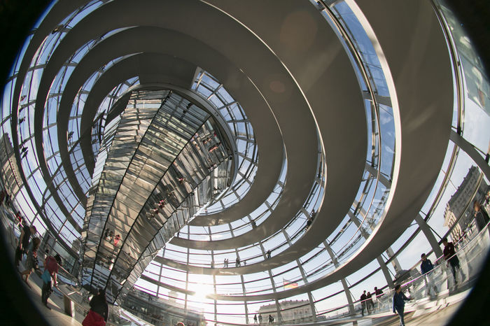 Photography of inside the Reichstag, at the dome #Berlin #RealPeople #Reichstag #arquitecture #dome #germany #sunset #sun #clouds #skylovers #sky #nature #beautifulinnature #naturalbeauty #photography #landscape