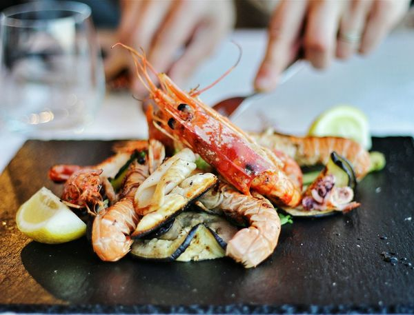 Seafood Food Food And Drink Grilled Healthy Eating Freshness Appetizer Plate Gourmet Ready-to-eat Italy 🇮🇹 No People Vegetables Vacations Canonphotography Canon_photos Canon Dinner Dinner For Two Dinner Table Foodlover Food Photography Food <3 Seafood Restaurant Seafoodplatter