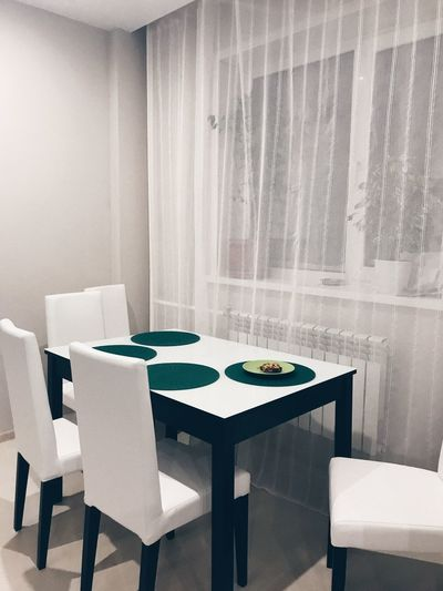 Table Seat Chair Indoors  Window No People Home Interior Dining Room White Color First Eyeem Photo