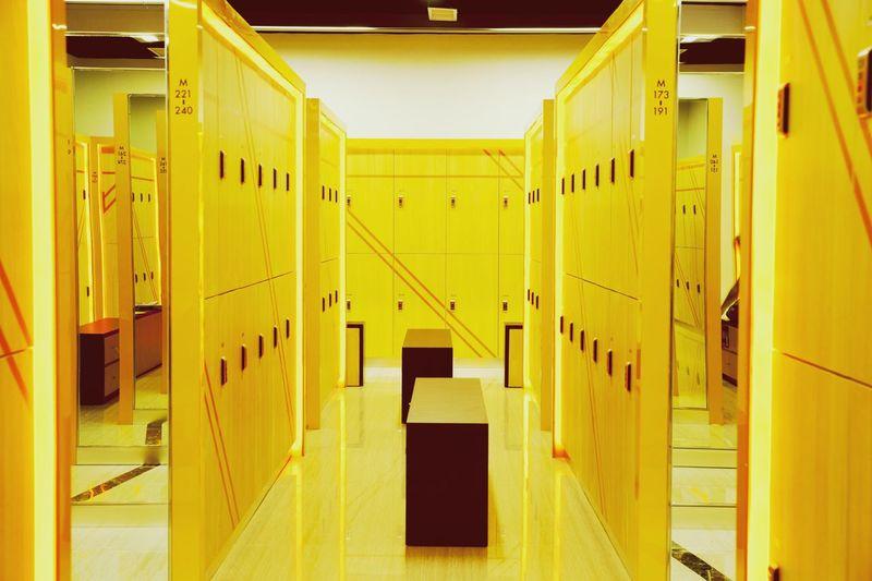 Illuminated locker room
