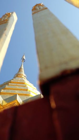 Religion Spirituality Gold Colored Place Of Worship Architecture Built Structure Low Angle View No People Building Exterior Golden Color Roof Outdoors Gold Day Close-up Sky Clear Sky Be. Ready. Colour Your Horizn