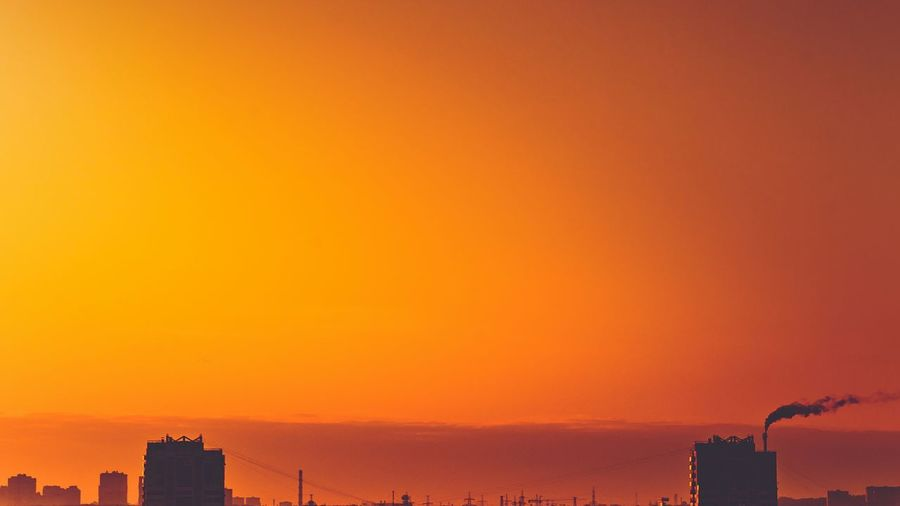 Between Sunrise Skyline Colors Love Them Moscow Sony A7