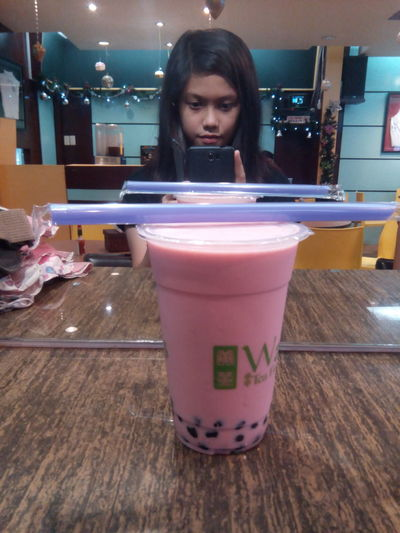 Having tea with Bestie :) Wangs Tea Time Strawberry Excited