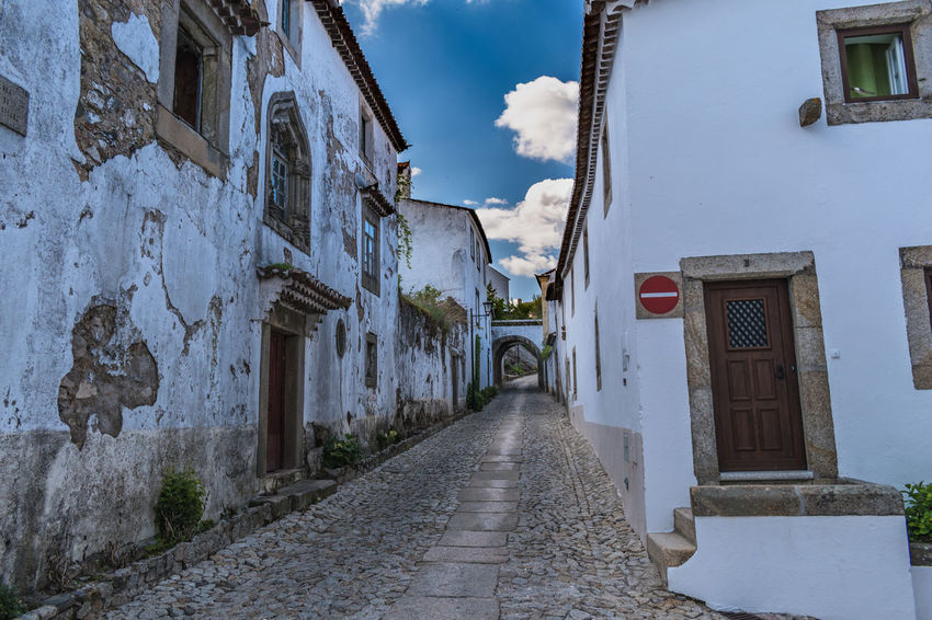 Marvão Alley Architecture Building Building Exterior Built Structure City Day Diminishing Perspective Direction Empty Footpath House Narrow Nature No People Outdoors Residential District Road Sky Street The Way Forward Transportation