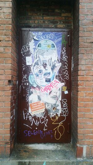 Williamsburg Doorway Entryway Street Art Selena Gomez  Brooklyn Newyorkcity New York