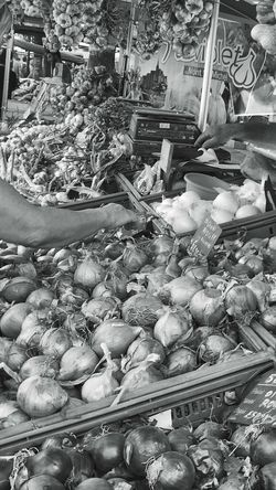 Market Day Outdoor Photography Outdoors Tourism City Life Unrecognizable Person People Watching Street Photography Part Of Black And White Photography Bnw Close Up Day Detail Food Choice Fresh
