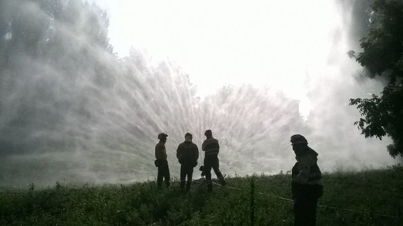 Nature Silhouette Outdoors Tree People Men Day Adults Only Togetherness Beauty In Nature Adult Sky EyeEm Gallery Water_collection Water Silhouette Firefighters Bomberos De España Forest Photography Uniqueness
