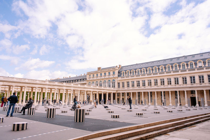 Palais Royal with a view Architecture Building Exterior Built Structure City Cloud - Sky Day France 🇫🇷 Large Group Of People Outdoors Palais Royal Paris People Real People Sky Travel Destinations