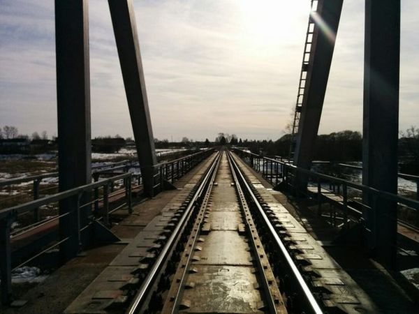 Railroad Track Transportation Business Finance And Industry Bridge - Man Made Structure City Cityscape
