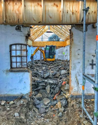 Destruction Built Structure Reconstruction Architecture Construction Site Rubble Indoors Outdoors Building Exterior Building Interior UNDERTHESKY
