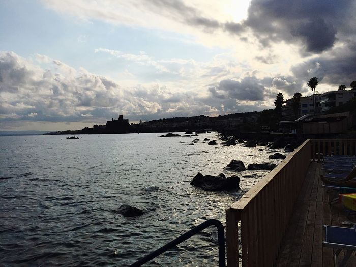 Bad weather is coming... Sea Seaside Sea And Sky Nature Clouds Clouds And Sky Coast Coastline