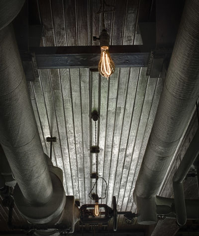 Ceiling Lights Edison Bulb Electricity  Greenfield Village Historic Old Perspective Pipes Receding