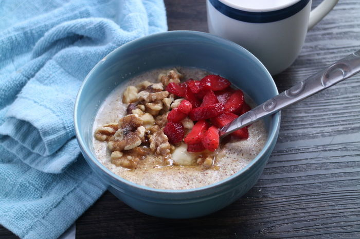 paleo Breakfasthot cereal Bowl Fruit Healthy Eating Granola Food And Drink No People Indoors  Close-up