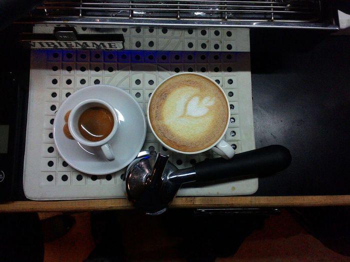 esspresso and latte Enjoying Life Coffee Break Coffee ☕ Coffeemachine