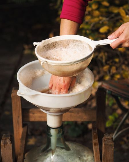 Applecider Cider Day Eating Utensil Focus On Foreground Food Food And Drink Freshness Hand Handmade Holding Household Equipment Human Body Part Human Hand Kitchen Utensil Ladle One Person Preparation  Real People Spoon Women Wood - Material