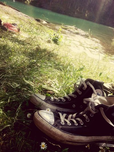 Chilling Caumasee Lovely Weather Beautiful Day Enjoying The Sun Peace And Quiet Love Chucks Converse Greenfield