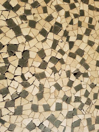 Pattern Design Abstract Yellow Textured  No People Pavements White Black Black & White Brescia Italy Mosaic Mosaic Art Community