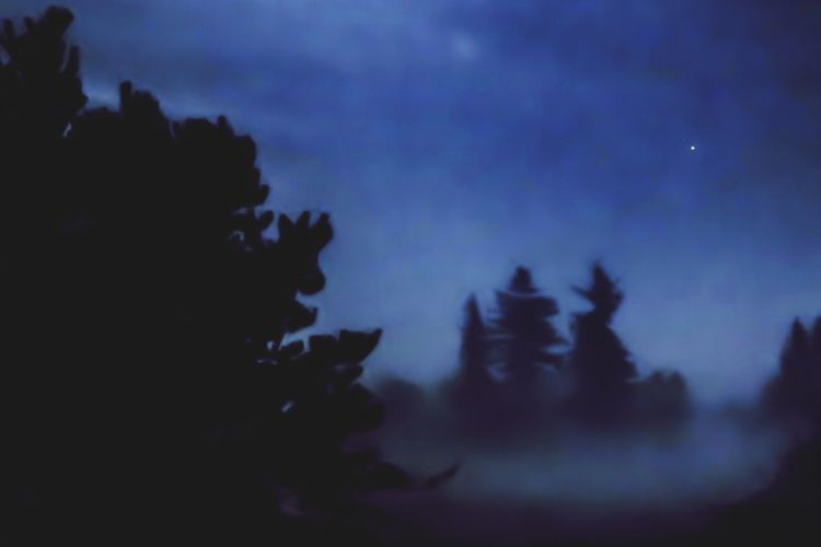 Foggy Silhouette Sky Art And Craft Representation Cloud - Sky Dusk No People Nature Night Creativity Outdoors