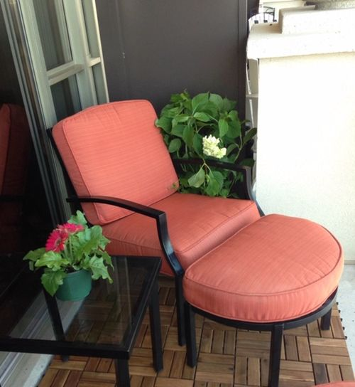 Seat Chair Plant Table Absence Flower Furniture Home Interior Home Decor Orange Chair Patio Decor Decorating