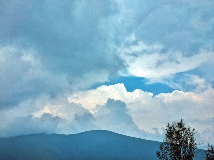 Cloud Mountain Nature Blue Cloudy
