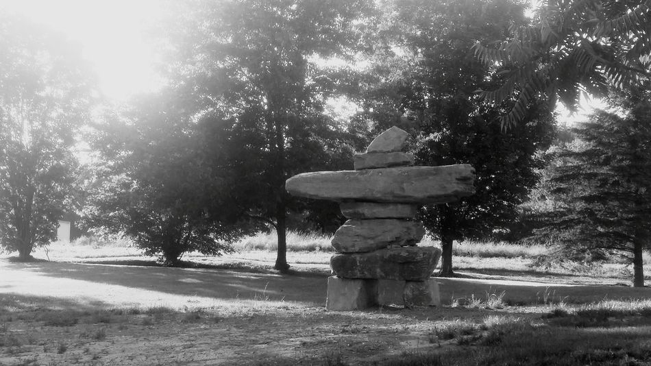 Those Moments When Your Just Like Eh . Beautiful Day :) Rock Formation Rock Art Sherbrooke Black And White Photography