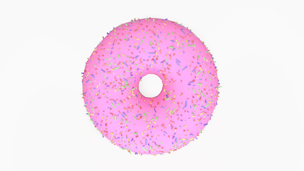 3d donut 3d Donut 3d Rendering Donut Donut Holes Donut Pink Donuts🍩 Eat No People Sweet Food