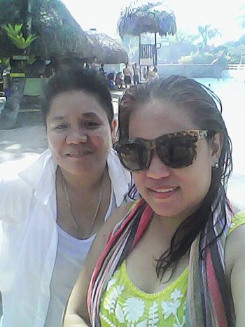 with aunt Relaxing Hanging Out Having A Great Time Swimming Time