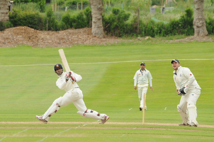 Former England cricketer Owais Shah playing club cricket Cricket Cricketers Match - Sport Outdoors Recreational Activities  Sport